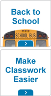 Back to school and make classwork easier