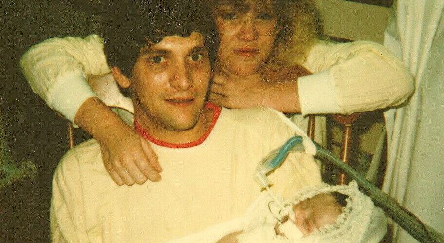 Lisa and Jimmy Hunter with baby Carly