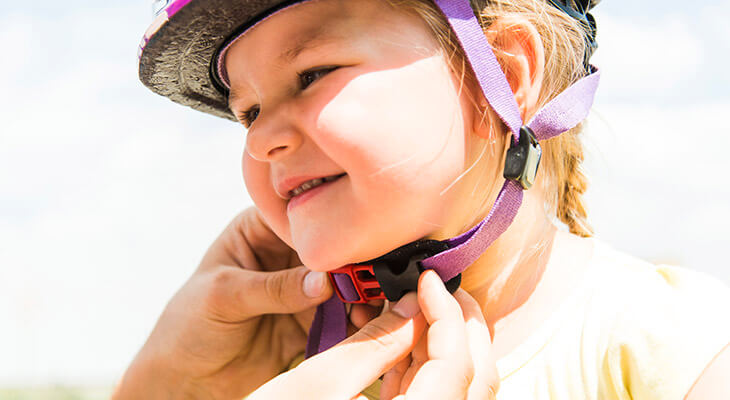 Norton Children\'s giving away bike helmets at Bats game   Louisville Ky.