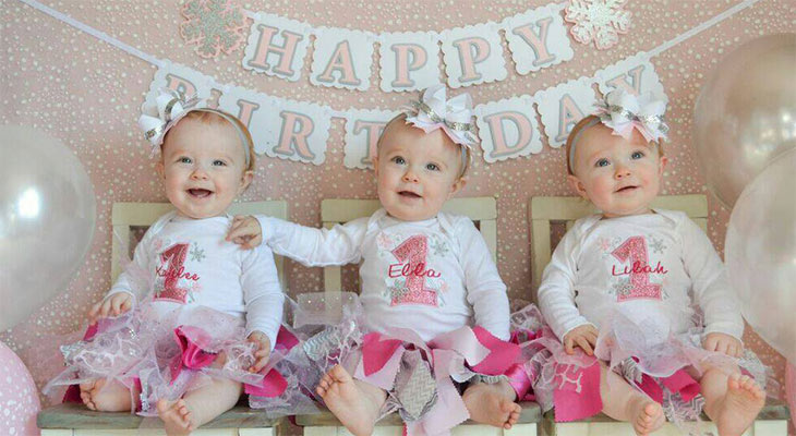 Rare identical triplets celebrate first birthday | Patient ...