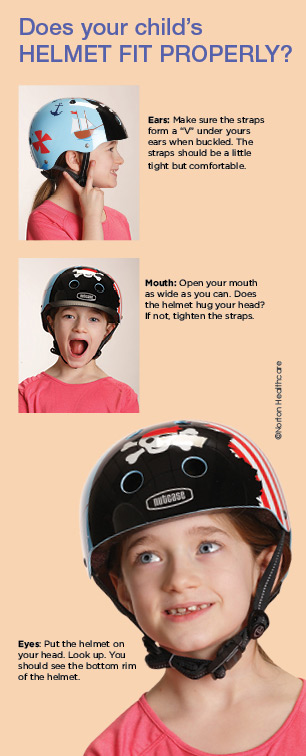 how to properly fit a kids bike helmet