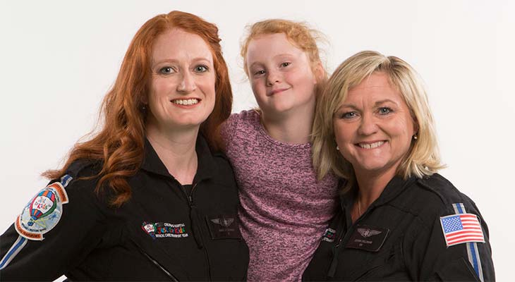 """Katie Savage with Donna and Kristen of the """"Just for Kids"""" Transport Team"""
