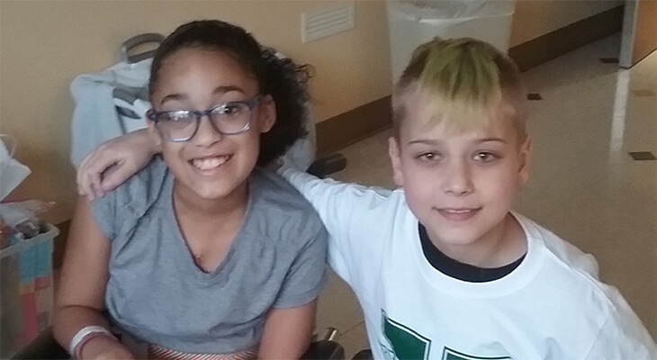 two kids find friendship in search for hearts